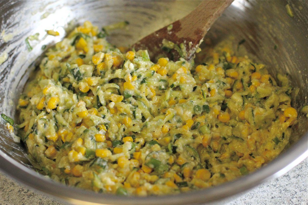Roasted corn, zucchini & fetta fritters… with adzuki bean salsa | A ...